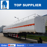 Volumen del titán 50m3 acoplado del petrolero del combustible del árbol del depósito de gasolina de la condición del carro de petrolero de nuevo 4