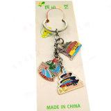 Chinesische Art-Metallandenken-Schlüsselkette mit berühmtem Platz