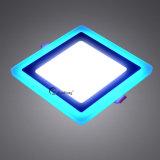 Two-Color Alterando a luz do painel de LED de encaixe quadrado 12+4W 195 mm