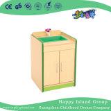 As crianças da escola Role Play Armário de forno de microondas em madeira escura (HG-4402)
