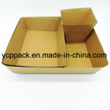 El cartón ondulado de la bandeja de chips de papas fritas de la bandeja de la caja