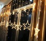 Garland Strip 138Cortinas de vidro partido LEDs LED Gelo Stars Luz de String