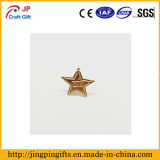 Kundenspezifischer Qualitäts-Vergoldung-Stern-Form-MetallreversPin für Andenken
