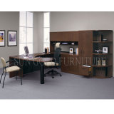 Diretor moderno Tabela do escritório de projeto da mesa de escritório do folheado preto (SZ-OD497)