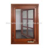 Ventana de aluminio del marco del estilo de la madera americana del roble con la ventana inestable revestida adoptada del polvo de los vidrios de la maneta inestable Igcc/SGCC