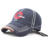 洗浄されたフェルトの刺繍の野球の習慣の帽子