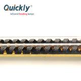 Reflector de ouro de tubo duplo onda média da lâmpada de infravermelhos