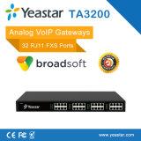 32 ports FXS analogiques Yeastar de passerelle VoIP