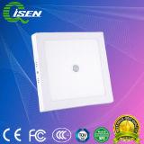 12W luz do sensor de movimento para o corredor com a superfície rodada