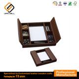 Habitación de cuero marrón chocolate clásico Joyero Organizador