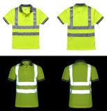 Hallo Kraft-Arbeitskleidungs-reflektierendes Polo-Hemd mit kundenspezifischem Firmenzeichen Trocken-Befestigen