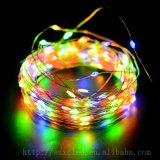 태양 에너지 LED 구리 끈 RGB 100 LEDs 별 LED 끈 빛