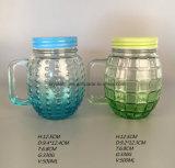 Soem-Ananas geformter Glasbier-Becher mit Griff und Stroh