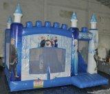 Haltbarer Belüftung-aufblasbarer gefrorener springender Schloss-Prahler mit Plättchen