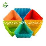 BPAはシリコーンのケーキのベーキング型のマフィンのコップのハンドメイドのコップのケーキ型を放す