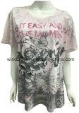 최신 훈련을%s 가진 뚱뚱한 여자를 위한 폴리에스테 전면 인쇄 t-셔츠