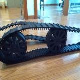 Pistes en caoutchouc de petit robot d'approvisionnement avec les roues pilotantes (80*15*108)