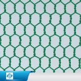Плетение провода PVC зеленого цвета Coated шестиугольное