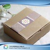 Cadre de empaquetage pliable environnemental de papier d'emballage pour le gâteau de nourriture (xc-fbk-045)