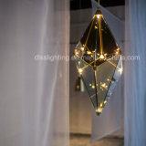 LED 유리제 Maxhedron 펀던트 램프를 거는 현대 대중적인 연기가 자욱한 다이아몬드
