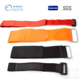 Black Hook & Loop Elastic Bundled Straps with Buckle
