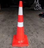 norme de 900mm Nouvelle Zélande Australie tout le cône mince orange de circulation de PVC