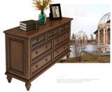 Cabinet de rangement en bois Crafsman de salon avec tiroirs (GSP20-004)