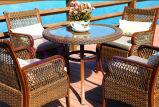 Im Freien Stuhl-Kombination des Hof-Balkon-Freizeit-Tisch-(runder Tisch) von drei Sets