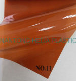 Folha elevada da película de cor do PVC do lustro
