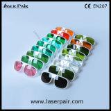 Frame simples branco 52 2 da linha óculos de proteção 200-540nm & 900-1100nm /Typical dos vidros de segurança do laser de YAG e de Ktp/proteção para 532nm & 1064nm
