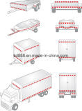 """2 """" [إكس] 150 ' انعكاسيّة 11 """" [رد/7] """" أبيض أمان [دوت-ك2] شريط لأنّ مقطورة عربة سيارة شاحنة [و/بونوس] أداة جانبا [رفلكتب]"""