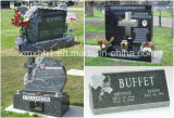 ヨーロッパのカスタマイズされた切り分ける花こう岩の十字の墓碑か記念碑または墓石