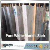 Losa de mármol blanca pura china para la decoración de interior y al aire libre