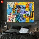 Nouvelle peinture peint à l'huile noire de dessin animé de mur de Graffiti