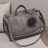 2017 heiße Form verzierter Handtaschen-Damentote-Schulter-Beutel mit Pelz-Zubehör Sy8099