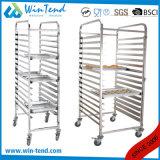Chariot duel commercial à crémaillère de lave-vaisselle de rangées de rangées de l'usine 9