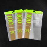 De douane ontwierp de Hete Verzegelde Plastic Zak van de Verpakking met de Zak van de Ritssluiting