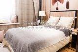 Напечатанные жаккардом градиенты одеяла/младенца ватки фланели Blanket- серые
