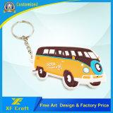 Catena chiave del bus di gomma molle su ordinazione poco costoso del PVC per il regalo di promozione (XF-KC-P14)