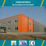 Estructura de acero de la luz del edificio de 2016 casas prefabricadas para el almacén