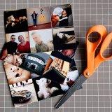 Ultima stampa rettangolare alla moda del magnete della foto di disegno moderno
