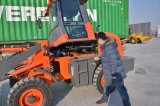 Carregador pequeno da roda do equipamento agrícola Oj-16 da agricultura