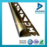 6063 T5 T6 Profil Aluminium populaire personnalisés pour les carreaux de cornet de garniture de ménage de décoration