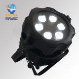 La IGUALDAD con pilas ULTRAVIOLETA impermeable de la fundición de aluminio de la luz de la IGUALDAD de Rasha Aquos IP65 6*18W 6in1 Rgbaw LED LED puede 7/12CH