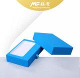 Caixa eletrônica de papelão rígido azul