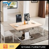 Mobiliário de aço inoxidável Conjunto de mesa de jantar mesa de jantar em mármore