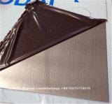 Hoja de acero inoxidable AISI 430 Acabado No 4 + PVC
