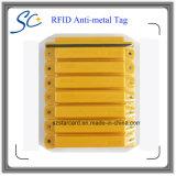 UHFのABS倉庫管理のための物質的な反金属RFIDの札