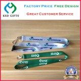 Imprimir seu logotipo da companhia na cinta personalizada alta qualidade da garganta