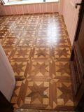 多彩な多層寄木細工の床木床